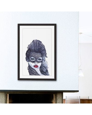 """House of Hampton® 'Incognito' Framed Watercolor Painting Print, Paper in Brown/Black, Size 24"""" H x 16"""" W 