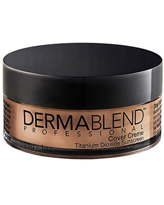 Dermablend Cover Creme High Coverage Foundation with SPF 30, 70W Olive Brown, 1 Oz.