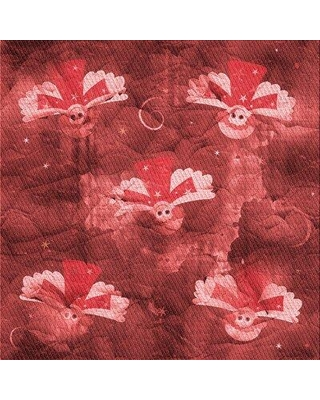 East Urban Home Floral Wool Red Area Rug W002560138 Rug Size: Square 5'