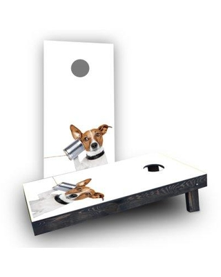 Custom Cornhole Boards Dog Phone Cornhole Boards CCB103-C-RH Bag Fill: Light Weight Boards with All Weather Bags/Handles
