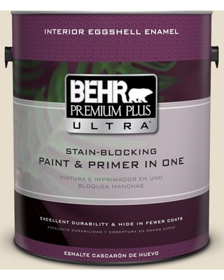 BEHR Premium Plus Ultra 1 gal. #MQ3-12 Ivory Paper Eggshell Enamel Interior Paint and Primer in One