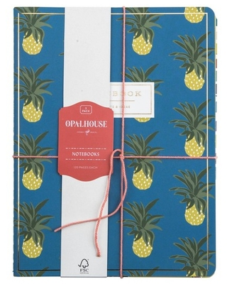 3pk Notebook College Ruled Sewn Bound Pineapple - Opalhouse