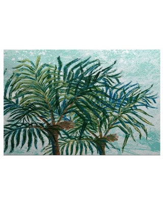Simply daisy 2' x 3' palms floral print indoor rug