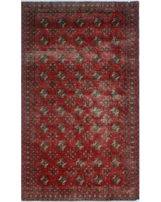 """One-Of-A-Kind Sébastien Hand-Knotted 4' x 6'8"""" Wool Red Area Rug Isabelline"""