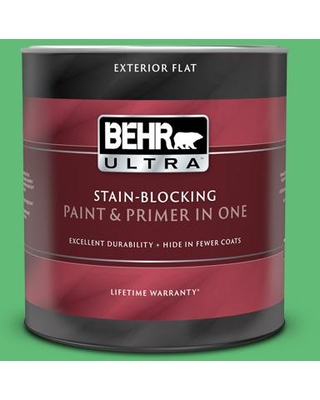 BEHR ULTRA 1 qt. #450B-5 Lady Luck Flat Exterior Paint and Primer in One