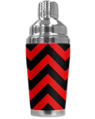 Mugzie Cocktail Shaker with Insulated Wetsuit Cover, Black