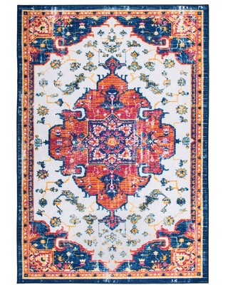 World Rug Gallery Distressed Traditional Bohemian Non Slip Multi 7 ft. 10 in. x 10 ft. Area Rug