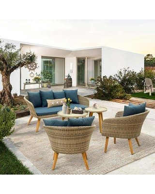 Check Out Deals On Corrigan Studio Devonshire 5 Piece Sofa Seating Group With Cushions X114551223