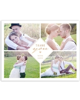 Sophisticated Glamour Wedding Thank You Postcard