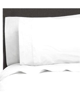 Canora Grey Ealing Pleat Hem 300 Thread Count Percale Sheet Set CAGY3180 Size: California King, Color: Bright White