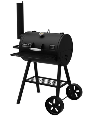 Dyna-Glo Signature Series 37-in Black Barrel Charcoal Grill   DGSS443CB-D