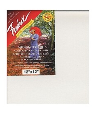 Fredrix Red Label Stretched Cotton Canvas 12 in. x 12 in. each [Pack of 2],Size: med