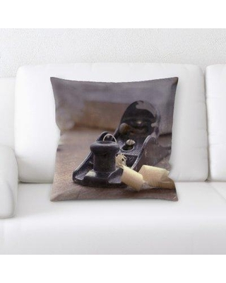 East Urban Home Woodworking Throw Pillow W000565096