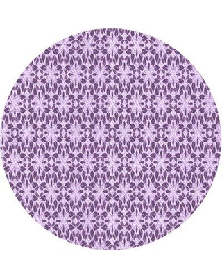 East Urban Home Abstract Wool Purple Area Rug X113624757 Rug Size: Rectangle 4' x 6'