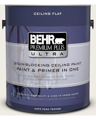 Behr Premium Plus Ultra 1 Gal Ppu7 12 Ceiling Tinted To Silky White