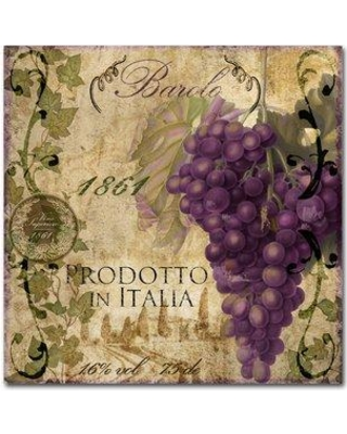 "Trademark Art 'Vino Italiano II' by Color Bakery Vintage Advertisement on Wrapped Canvas ALI4164-C Size: 18"" H x 18"" W x 2"" D"