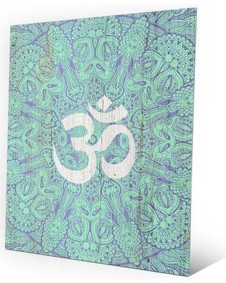 """Click Wall Art 'Om' in Hindi Graphic Art on Plaque FIT0000001MTL Size: 30"""" H x 20"""" W x 1"""" D"""