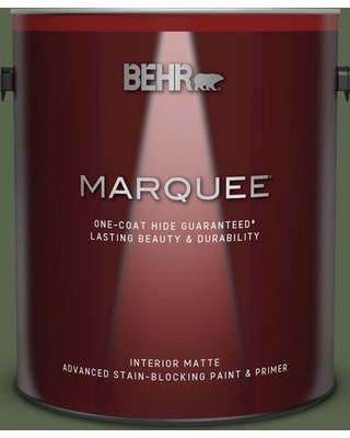BEHR MARQUEE 1 gal. #410F-7 Fiddle Leaf Matte Interior Paint and Primer in One