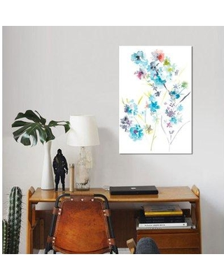 """East Urban Home 'Spring Soiree II' Watercolor Painting Print on Wrapped Canvas ESUH8064 Size: 18"""" H x 12"""" W x 1.5"""" D"""