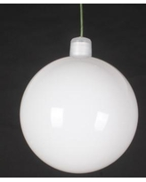 Queens of Christmas Ball Ornament (Set of 12) WL-ORN-BLKS Size: 60 mm, Color: White