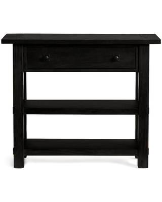 """Benchwright 36"""" Small Space Console Table, Blackened Oak"""