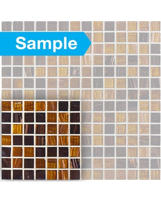 New Deal On Merola Tile Take Home Sample Coppa Amber 6 In X Glass Mosaic