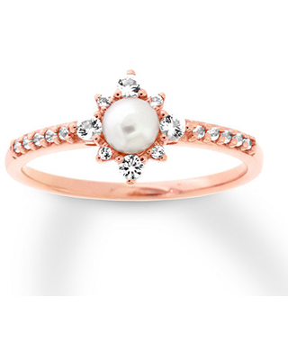 89569a053 Can't Miss Deals on Freshwater Cultured Pearl Ring with White Topaz ...