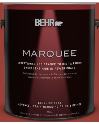 Behr Marquee 1 Gal S H 190 Antique Red Flat Exterior Paint And Primer