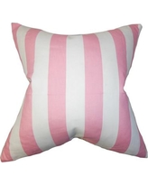 The Pillow Collection Ilaam Stripes Throw Pillow Cover P18FLAT-PP-CANOPY Color: Baby Pink