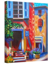 """'Cafe Tino' by Susi Franco Painting Print on Wrapped Canvas ArtWall Size: 18"""" H x 14"""" W"""