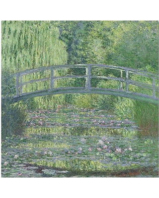 """Trademark Art """"The Water-Lily Pond"""" Canvas Art by Claude Monet"""