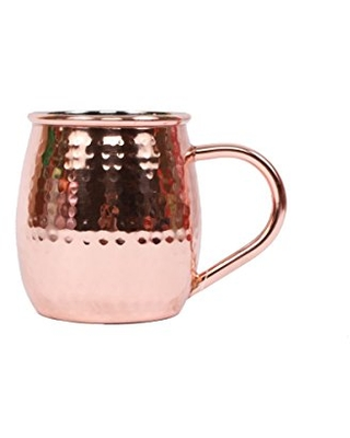 DEI Moscow Mule Copper Mug with Hammered Finish