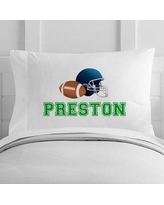 4 Wooden Shoes Personalized Football Toddler Pillow Case WF-12-135