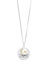 "Timeless Sterling Silver ""Love You to the Moon & Back"" Pendant Necklace, Women's, White"