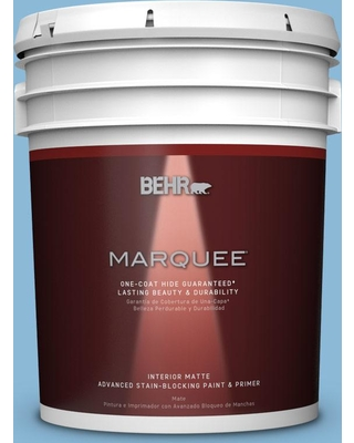 BEHR MARQUEE 5 gal. #MQ5-55 Simply Posh One-Coat Hide Matte Interior Paint and Primer in One