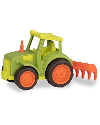 Wonder Wheels by Battat – Tractor Toy with Rake – Developmental Farm Toy for Kids, Toddlers – Durable & Sturdy Toy Truck – Tractor – 1 Year Old +