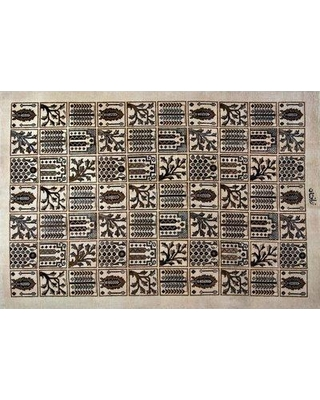 """Isabelline One-of-a-Kind Pitchford Hand-Knotted 6'6"""" x 9'6"""" Gray/Beige Area Rug W000738886"""