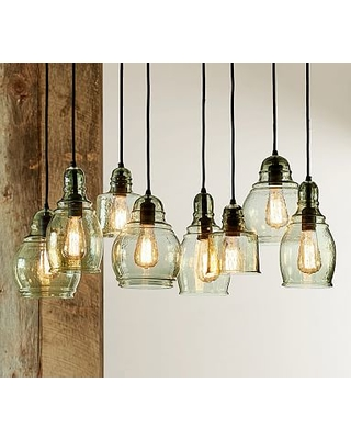 Paxton Hand N Gl 8 Light Pendant Ceiling