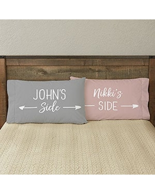 His Side or Her Side Personalized Full Color Pillowcase Set