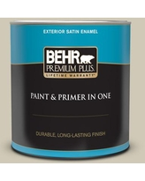 New Deal For Behr Premium Plus 1 Gal N330 3 Unmarked Trail Flat Exterior Paint And Primer In One