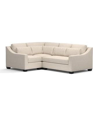 York Slope Arm Upholstered Deep Seat Right Arm 3-Piece Corner Sectional, Bench Cushion, Down Blend Wrapped Cushions, Performance Everydaylinen(TM) by Crypton(R) Home Oatmeal