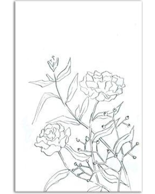 Ophelia & Co. 'Roses Sketch' Drawing Print on Wrapped Canvas BI087793