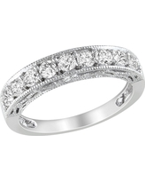 4/5 CT. T.W. Created White Sapphire Ring - Silver, Size: 9.0