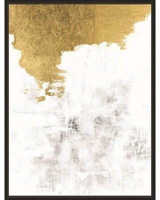 Mercer41 'A Touch of Gold' Framed Graphic Art Print BF019944
