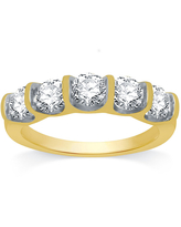 Ever Star 2MM 1 1/2 CT. T.W. Lab Grown White Diamond 10K Gold Band, 8 , No Color Family
