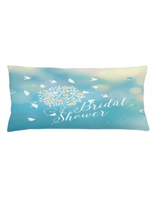 "Bridal Shower Indoor / Outdoor Lumbar Pillow Cover East Urban Home Size: 16"" x 36"""