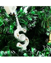 MatashiCrystal Christmas Tree Dollar Sign Spinner Shaped Ornament MTSP3150 Color: Chrome Silver