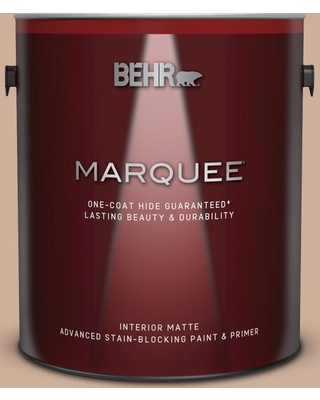 BEHR MARQUEE 1 gal. #S200-3 Iced Copper Matte Interior Paint and Primer in One