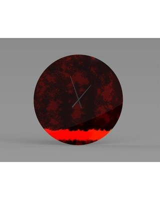 East Urban Home Nearby Salutiferous Contemporary Abstract Art Metal Wall Clock W000306051 Size: Small