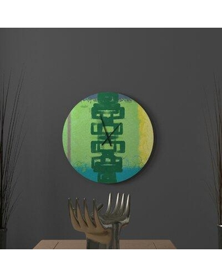 East Urban Home Affined Aholic Peacock Abstract Metal Wall Clock W002210063 Size: Small
